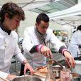Retour sur le premier épisode de Top Chef, saison 3 - Gérald et Ruben en plein travail