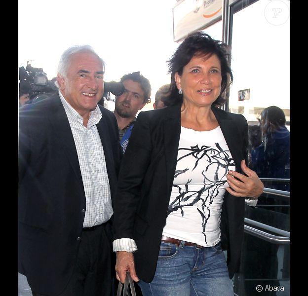 Dominique Strauss-Kahn et Anne Sinclair à New York le 3 septembre 2011