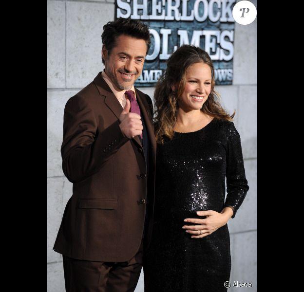 Robert Downey Jr. et sa femme Susan à Los Angeles le 6 décembre 2011 pour l'avant-première de Sherlock Holmes 2