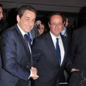 François Hollande, sûr de lui, salue Nicolas Sarkozy : le combat peut commencer