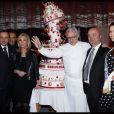 Xavier de Moulins, Laurence Ferrari, Alain Ducasse et Delphine Wespiser lors des 25 ans de TV Magazine au Plaza Athenée le 8 février 2012 à Paris