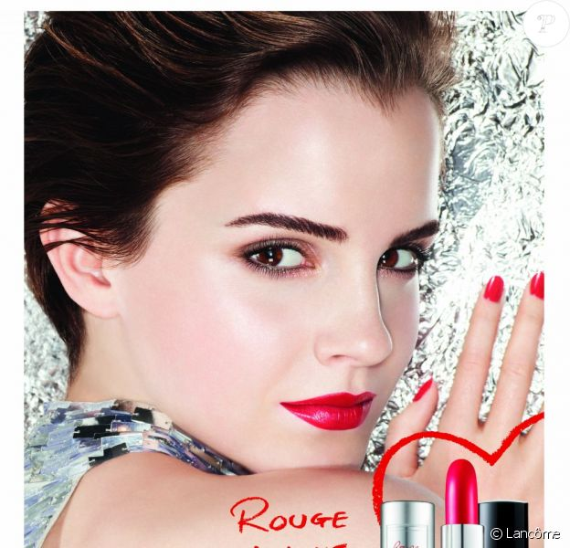 Emma Watson pour Rouge In Love de Lancôme