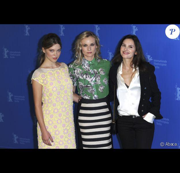Léa Seydoux, Diane Kruger et Virginie Ledoyen au festival de Berlin, le 9 février 2012.