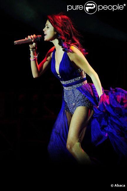 Selena Gomez donne un concert à Buenos Aires, en Argentine, le mercredi 8 février 2012.