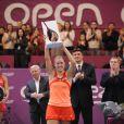 Angélique Kerber, victorieuse le 12 février 2012 à Coubertin lors de la finale de l'Open GDF Suez à Paris