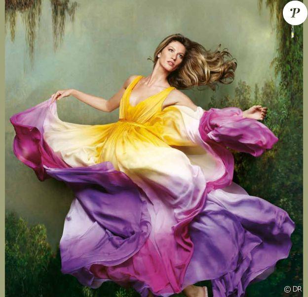 Gisele Bündchen, muse artistique pour lancer la nouvelle campagne printemps-été 2012 de sa collection de sandales Ipanema.