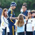 David Beckham le 20 février 2012 lors d'un entraînement du Galaxy de Los Angeles
