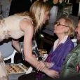 Michèle Morgan fête ses 92 ans et 75 ans de cinéma, avec Sarah Marshall, à la mairie de Puteaux, le 29 février 2012.