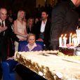Michèle Morgan fête ses 92 ans et 75 ans de cinéma, à la mairie de Puteaux, le 29 février 2012.