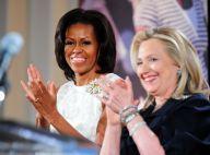 Michelle Obama rayonnante pour célébrer les femmes avec Hillary Clinton