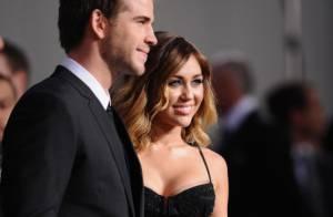 Miley Cyrus éclatante avec son chéri Liam Hemsworth et les stars de Hunger Games
