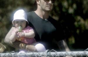 David Beckham : Un papa musclé pour sa fille Harper aux anges