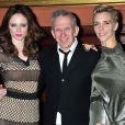 Coco Rocha, Jean-Paul Gaultier et Hannelore Knuts à un gala célébrant la mode au lycée français de New York. Le 17 mars 2012.