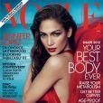Jennifer Lopez en couverture de  Vogue  US, avril 2012.
