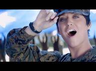 Katy Perry méconnaissable en petit soldat pour le clip de ''Part Of Me''