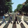 La pochette de l'album  Abbey Road  (1969) des Beatles, repris de nombreuses fois depuis.
