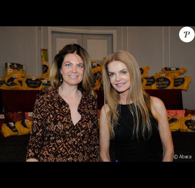 Arielle de Rothschild et Cyrielle Clair lors de la fête pour enfants organisée par l'association Care présidée par Arielle de Rothschild au Lutetia, le 24 mars 2012