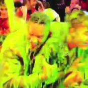 Justin Bieber et Halle Berry, aspergés d'une étrange substance verte et gluante