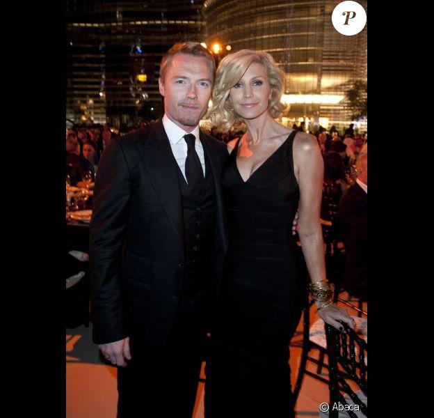 Ronan Keating et sa femme Yvonne le 10 décembre 2011 à Dubaï
