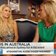 Paris Hilton, interviewée par Edwina Bartholomew pour l'émission Sunrise, n'a pas apprécié la question sur la fin de sa popularité.