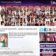 Capture d'écran du site officiel de Miss Univers Canada
