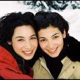 Marie Fugain et sa soeur Laurette en décembre 1999 à Courchevel