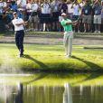 Tiger Woods le 4 avril 2012 à Augusta où il dispute le Masters du même nom