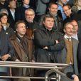 Nasser Al-Khelaïfi, Luc Chatel, David Douillet, Frédéric Thiriez et Pedro Miguel Pauleta le 8 avril 2012 au Parc des Princes pour le match entre le PSG et l'OM à Paris