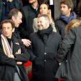 Eric Naulleau le 8 avril 2012 au Parc des Princes pour le match entre le PSG et l'OM à Paris