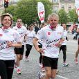 PPDA lors des Kilomètres du Coeur, en plein Marathon de Paris le 15 avril 2012