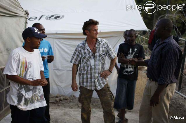 Sean Penn près de Port-au-Prince à Haïti, le 20 novembre 2010.