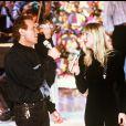 Eric Charden et Annie Stone à Paris, le 22 janvier 1989.