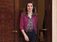 Letizia d'Espagne radieuse pour des audiences au palais en solo