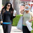 Vanessa Hudgens va au sport avec sa mère Gina à Los Angeles le 7 mai 2012
