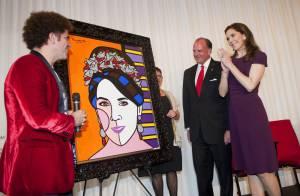 La princesse Mary, comme Charlene de Monaco, a son portrait par Romero Britto