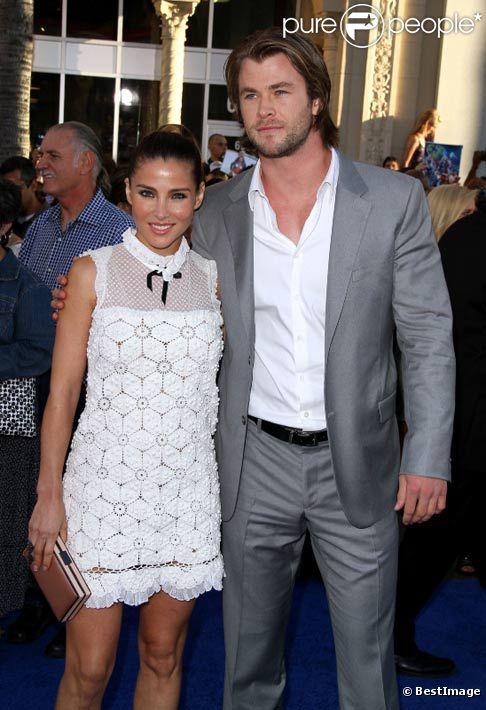 Elsa Pataky en compagnie de son mari Chris Hemsworth à l'avant-première de Captain America en juillet 2011 à Los Angeles