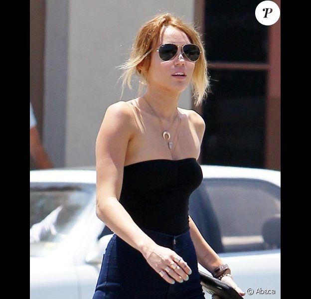 Miley Cyrus à Los Angeles, le dimanche 13 mai 2012.