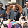 Chris Rock, Ben Stiller et David Schwimmer lors du photocall de  Madagascar 3 : Bons baisers d'Europe , au Festival de Cannes le 17 mai 2012.