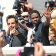 Ben Stiller et Chris Rock lors du photocall de  Madagascar 3 : Bons baisers d'Europe , au Festival de Cannes le 17 mai 2012.