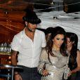 Eva Longoria et son amoureux Eduardo Cruz quittent la Sphère Party à Cannes, le 18 mai 2012.