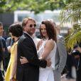 Thomas Kretschmann et Asia Argento lors du photocall de Dracula 3D, à Cannes le 19 mai 2012