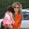 Heidi Klum emmène sa fille Lou à un cours de karaté à Brentwood, Los Angeles le 19 mai 2012