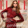 Le mannequin roumain Alina Ilie en couverture de  Elle  Roumanie - octobre 2010.