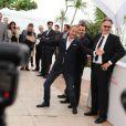 Benoît Poelvoorde lors du photocall du film Le Grand Soir le 22 mai 2012 au Festival de Cannes