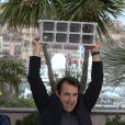 Albert Dupontel lors du photocall du film Le Grand Soir le 22 mai 2012 au Festival de Cannes