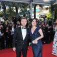 Ronan Keating et Laura Michelle Kelly lors de la montée des marches du Palais des Festivals, pour le film Cogan - La Mot en Douce, à Cannes le 22 mai 2012