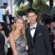 Novak Djokovic et son amoureuse Jelena Ristic lors de la montée des marches du Palais des Festivals, pour le film Cogan - La Mot en Douce, à Cannes le 22 mai 2012
