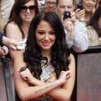 Tulisa Contostavlos arrive à la première audition de la neuvième saison de l'émission  X Factor , à Liverpool le 23 mai 2012.