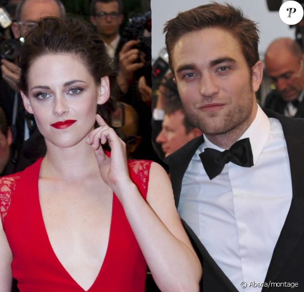 Kristen Stewart et Robert Pattinson lors de la montée des marches du Palais des Festivals pour le film Cosmopolis, à Cannes le 25 mai 2012