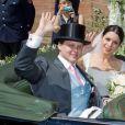 Le comte Charles Alexandre de Faber-Castell, héritier de la maison d'articles de bureau et d'art Faber-Castell, et sa compagne Melissa Eliyesil ont célébré leur mariage le 26 mai 2012 à Stein, en Bavière, fief de la famille aristocratique.